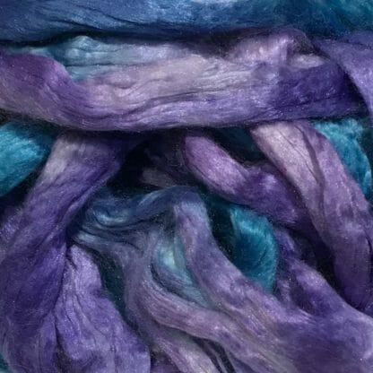 Close-up of Mulberry silk fibres.