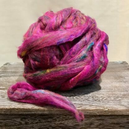 A ball of silk fibres.